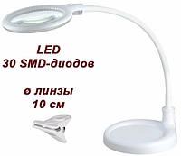 Лампа-лупа настольная 2014 2-в-1 LED 3D