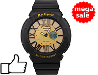 Детские спортивные часы Casio Baby-G BGA-160 Black - Gold