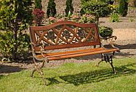 Скамейка садовая Praga с подлокотниками
