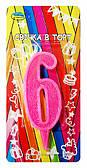 """Свічки-цифри """"Рожеві"""" 6"""