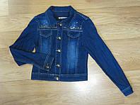 Джинсовый пиджак для девочки Турция (рост 140, 146, 158, 164)