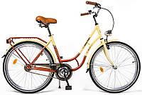 """Велосипед городской 26"""" West Bike City Bike коричнево-кремовый"""