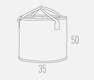 Универсальная круглая корзина для дров (дровница) из нейлона HANSA, фото 2
