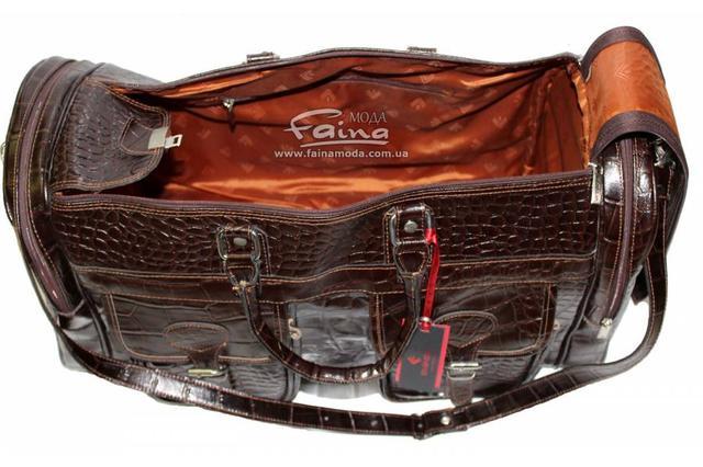Дорожная сумка кожаная коричневая Eminsa практичная удобная