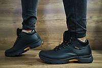 Мужские зимние ботинки Ecco (черные), ТОП-реплика, фото 1