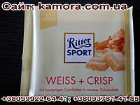 Шоколад Ritter sport белый шоколад с криспами (Ритер спорт) 100г. Германия
