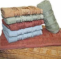 """Махровое полотенце для лица """"якорьки""""  №Л005"""