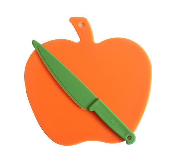 Разделочная доска яблоко + нож