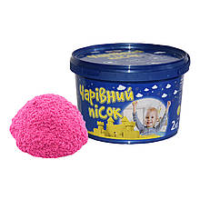 Песок розового цвета в ведре, 2 кг «Strateg» (317-3)