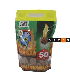 Разжигатель огня HANSA в кубиках 50 шт.
