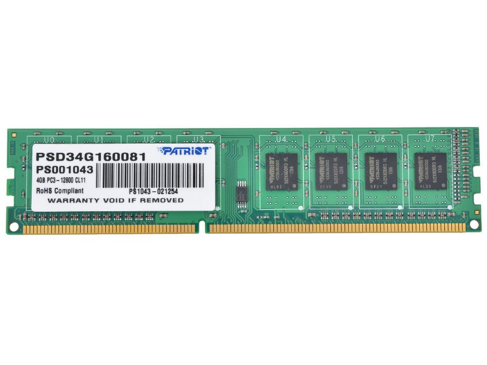 Планка оперативной памяти 4 GB DDR3-1600 Patriot