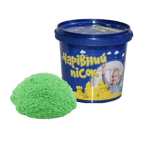 Песок зелёного цвета  в ведре, 1 кг «Strateg» (316-5), фото 2