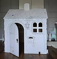 Картонный домик для рисования для детей