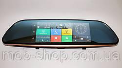 """Автомобильное зеркало регистратор D35 7"""" 2 камеры GPS навигатор WiFi регистратор-зеркало Android 3G"""
