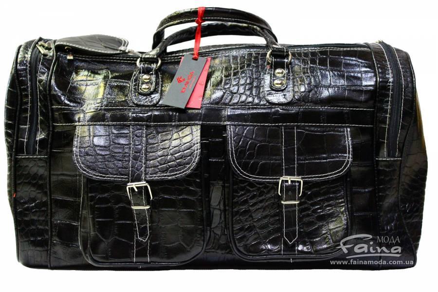 Дорожная сумка кожаная черная Eminsa 6541-4-1