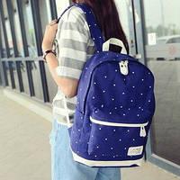 Городской женский рюкзак в горошек