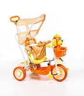 Трехколесный велосипед для детей Собачка,оранжевая