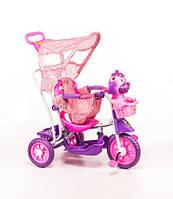Трехколесный велосипед для детей Собачка,розовая