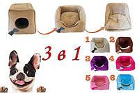 Домик для собак или кошек 3 в 1 Trio + подушка