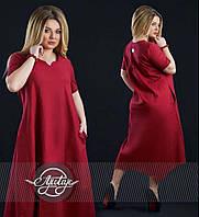 Стильное платье с карманами - 15366