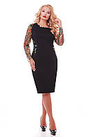 Платье большого размера VP29 черное
