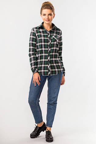 2dcde23cfed Стильная теплая женская зеленая рубашка в клетку с длинным рукавом ...