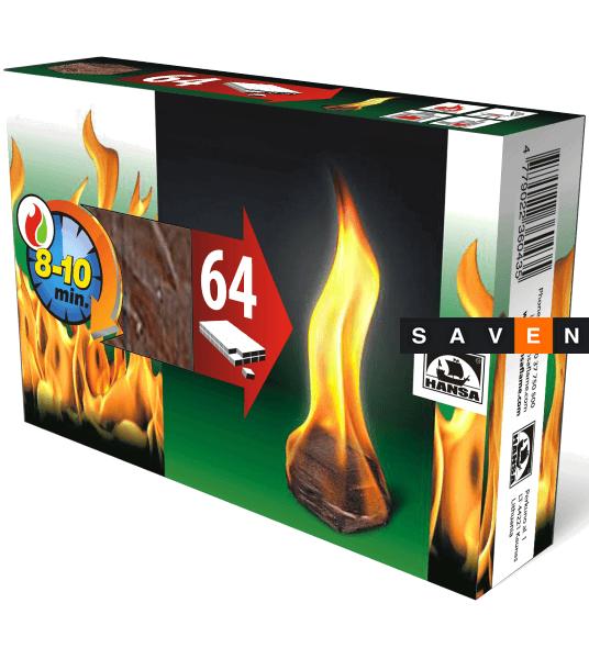 Разжигатель огня HANSA 64 шт.