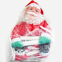 Новогодняя Игрушка Подвесной Santa Claus Декор для Дома Санта Клаус с Мешком Лезет по Лестнице 50 см
