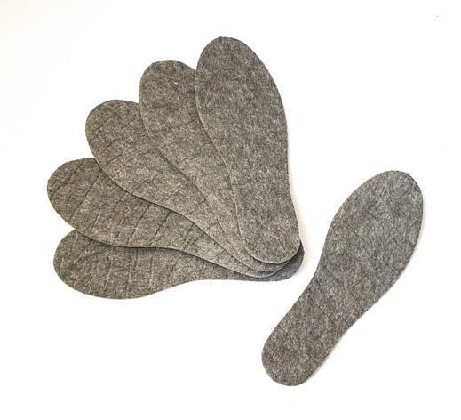 Стельки фетровые теплые унисекс, размер 37-45, фото 2