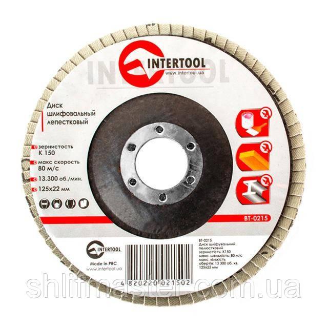Диск шлифовальный лепестковый INTERTOOL BT-0215