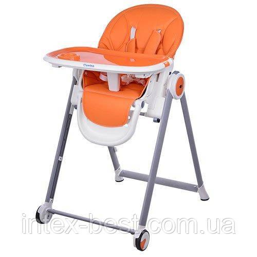 Стульчик для кормления Bambi Оранжевый (M 3550-7 MOON) с регулировкой положения столика
