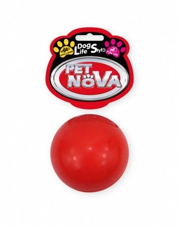 Игрушка для собак Мяч резиновый Pet Nova 5 см красный