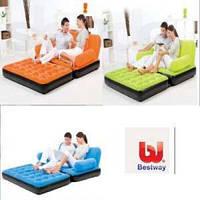 Надувной диван-трансформер 5 в1 BestWay «comfort quest» (193x152x64 см.) с электронасосом, фото 1