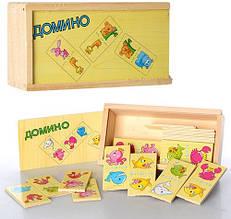 Деревянная игрушка Домино Животные