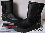 Marco зимние женские теплые угги! сапоги ботинки уги взуття Ugg кожа , фото 7