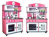 Деревянная кухня для детей Roma + набор посуди