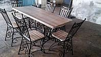 Кованая садовая мебель: комплект стол и стулья, фото 1