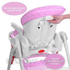 Стульчик-качалка для кормления Bambi Розовый (M3551-8 DREAM) на колесиках, фото 2