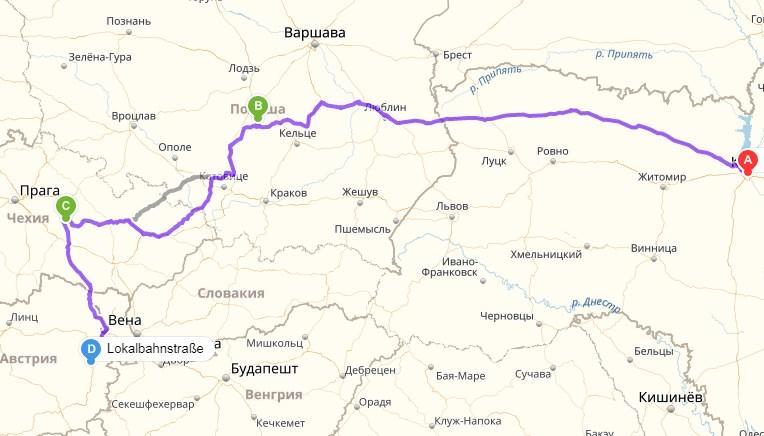 Доставка автомобиля УАЗ 3151 автовозом с Киев, Украина в Нойнкирхен, Австрия (транзитные страны: Польша, Чехия) - 1400км