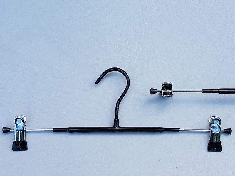 Длина 35 см.Плечики металлические в силиконовом покрытии с прищепками зажимами для брюк и юбок