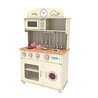 Деревянная кухня для детей Sofia Pink+ набор посуди