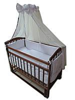 """Акция! Комплект для сна """"Чайка"""". Кроватка маятник + матрас ортопедический + постельный набор 8 эл."""
