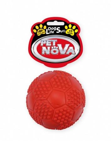 Игрушка для собак Мяч футбольный с пищалкой Pet Nova 7 см