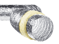 Воздуховод гибкий вентиляционный утеплённый 250/7,6
