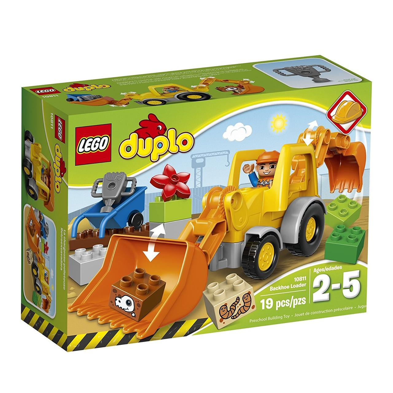 9f5011cb593 Конструктор Лего Дупло Экскаватор-погрузчик 10811 (19 дет)/LEGO DUPLO Town  Backhoe