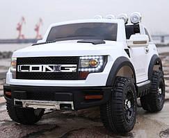 Детский электромобиль джип,Ford Long T-7819 белый