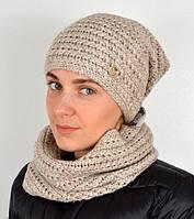 Женский комплект шапка+ баф