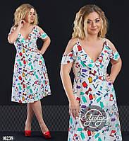Летнее платье средней длины - 16238