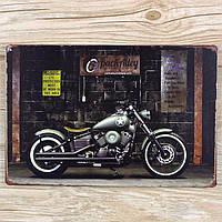 Металева декоративна картина Motorcycle UA-0046 (20х30 см)