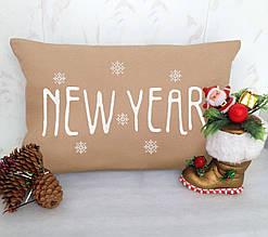 """Новогодняя подушка 2018 """"New Year"""" 24"""